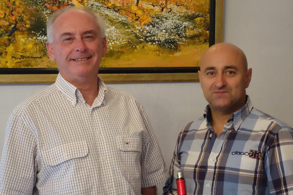 Richard and winemakier Stéphane Renié